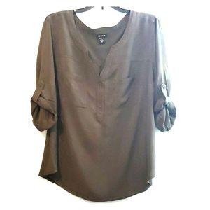Torrid, army green blouse, size 1x, NWOT